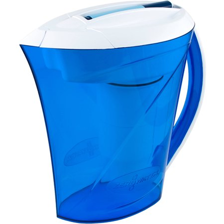 Zerowater 10 Cup Ready Pour Pitcher With Free Tds Light Up Indicator  Total Dissolved Solids  Zd 010Rpm