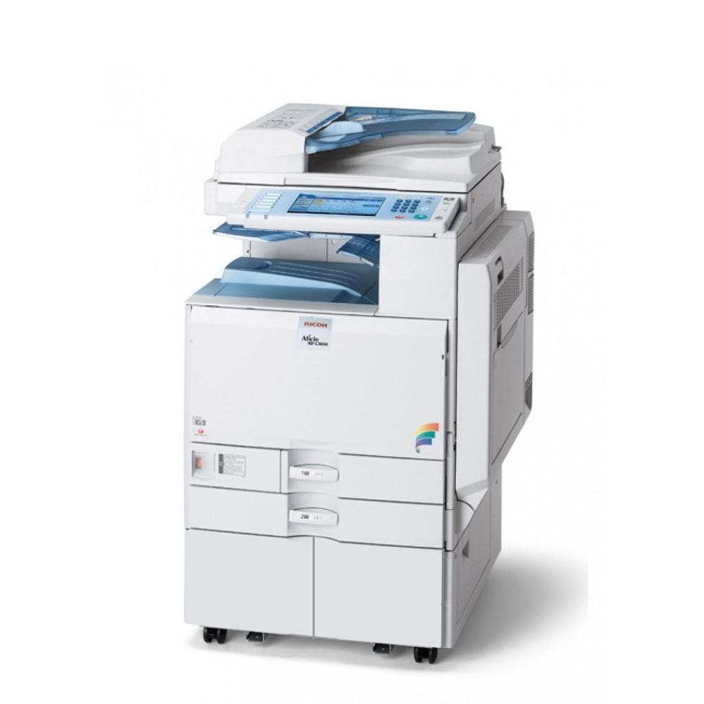 Refurbished Ricoh Aficio MP C2500 A3 Color Laser Multifunction Copier - 25ppm, Copy, Print, Scan, Auto Duplex, Network, 2400 x 1200 dpi, 2 Trays, Stand