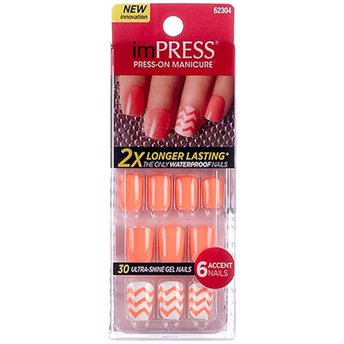 Broadway Impress Gel Nails, Boogie Down, 36 count