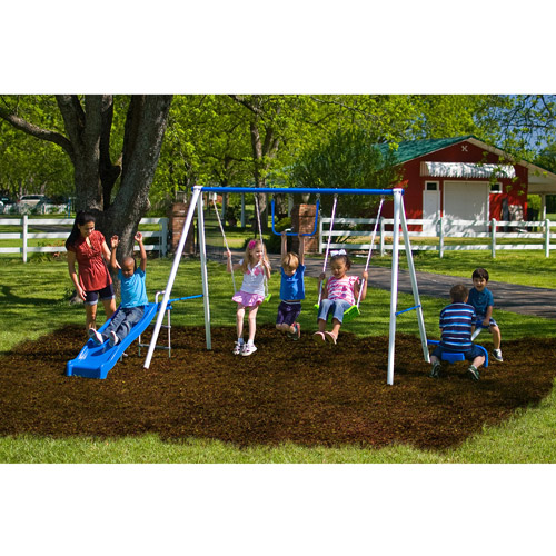 Flexible Flyer Fun Time Metal Swing Set Walmart Com