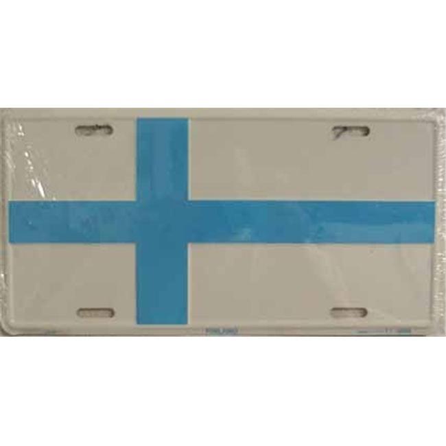 LP - 480 Finland Flag License Plate - 2366