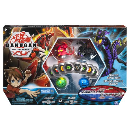 Bakugan, Battle Bundle with 4 Bakugan and Exclusive Battle Mat, Walmart