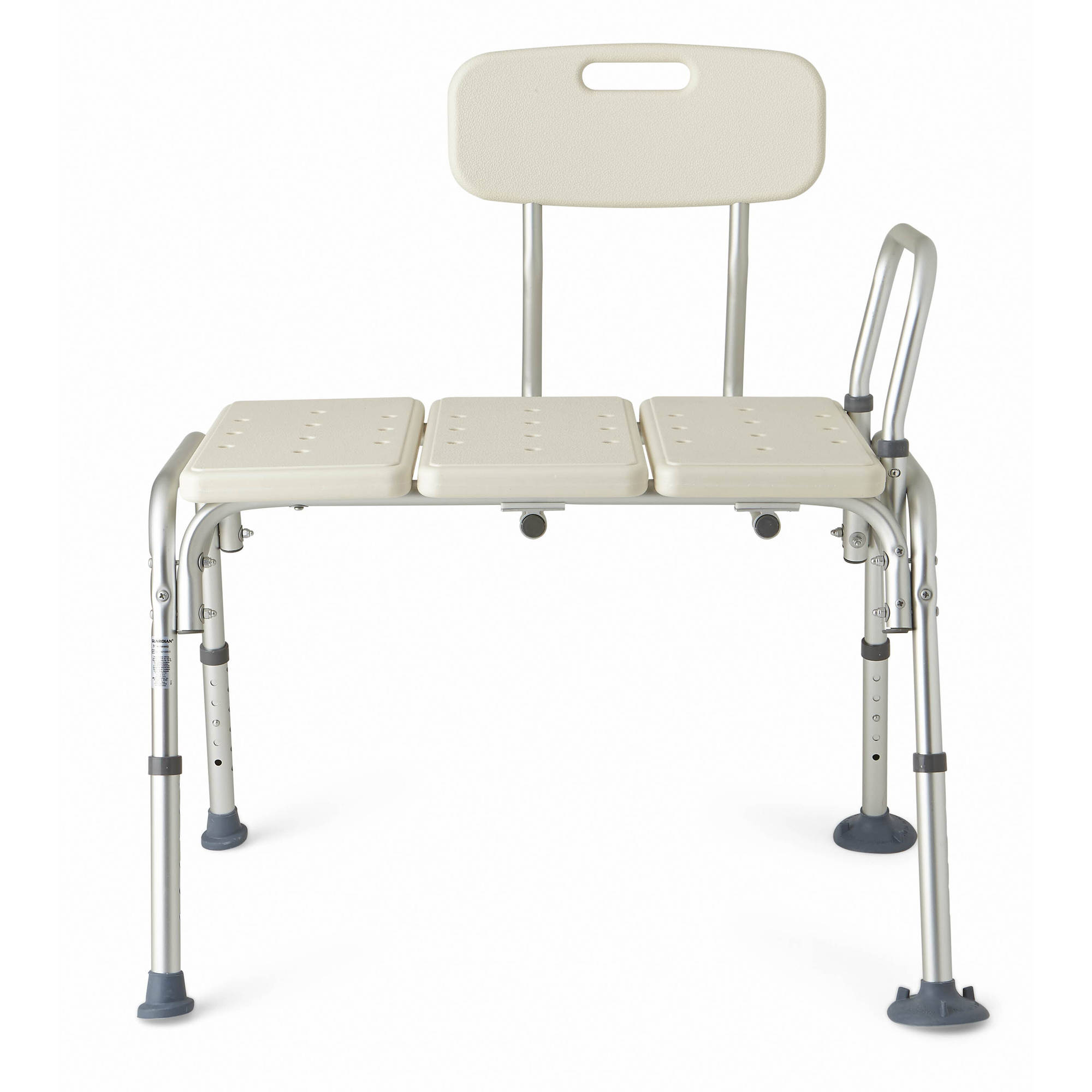 Medline Height Adjustable Transfer Bench with Backrest-Tool Free ...