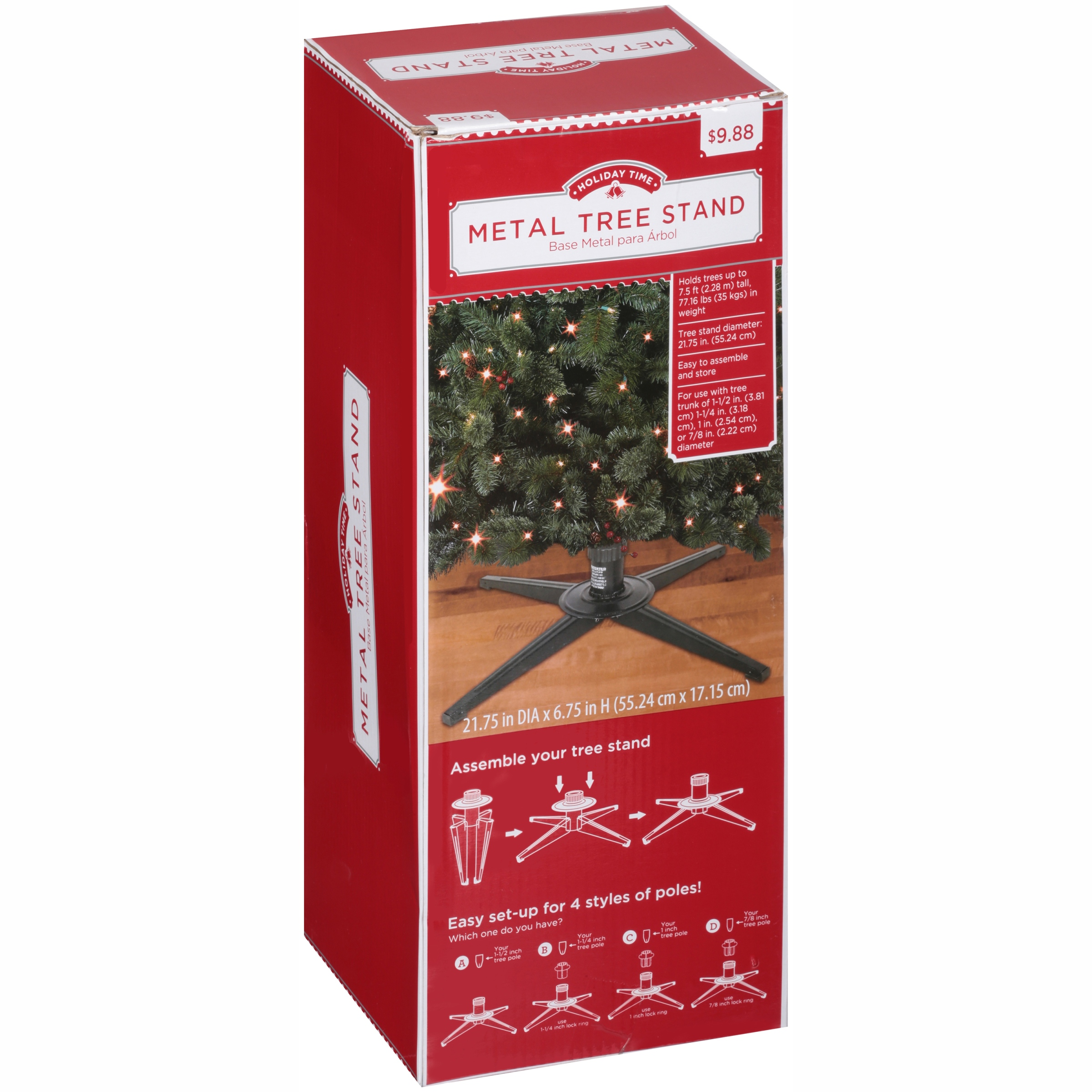 Holiday Time Metal Tree Stand