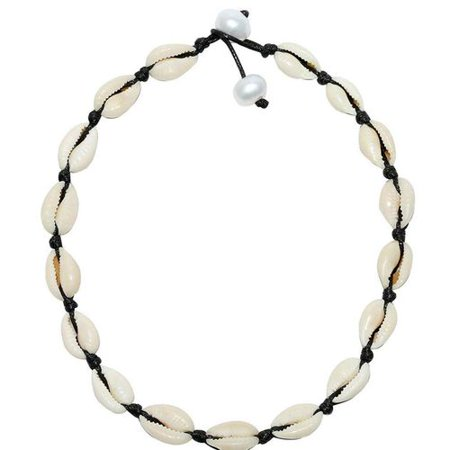 KABOER 1 PCS Shell Necklace Choker for Women, Seashell Necklace Handmade Natural Shell Choker  Hawaiian Beach Jewelry