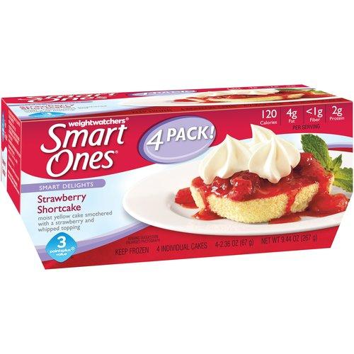 Weight Watchers Smart Ones Smart Delights Strawberry Shortcake, 2.36 oz, 4 count