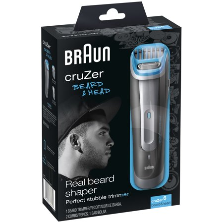 braun cruzer 6 beard head trimmer 4 pc box. Black Bedroom Furniture Sets. Home Design Ideas