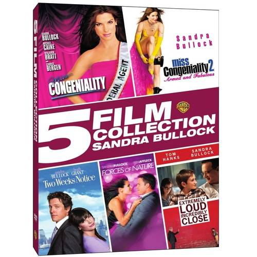5 Film Collection: Sandra Bullock - Miss Congeniality / Miss Congeniality 2: Armed And Fabulous / Two Weeks Notice / Forces Of Nature / Extremely Loud And Incredibly - Sandra Bullock Halloween