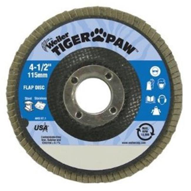 Weiler 804-51169 7 inch Tiger Paw Super High Density Flap Disc 60Z