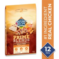 Nature's Recipe Prime Blends? Grain Free Dry Dog Food Chicken, Turkey, and Butternut Squash Recipe (Various Sizes)