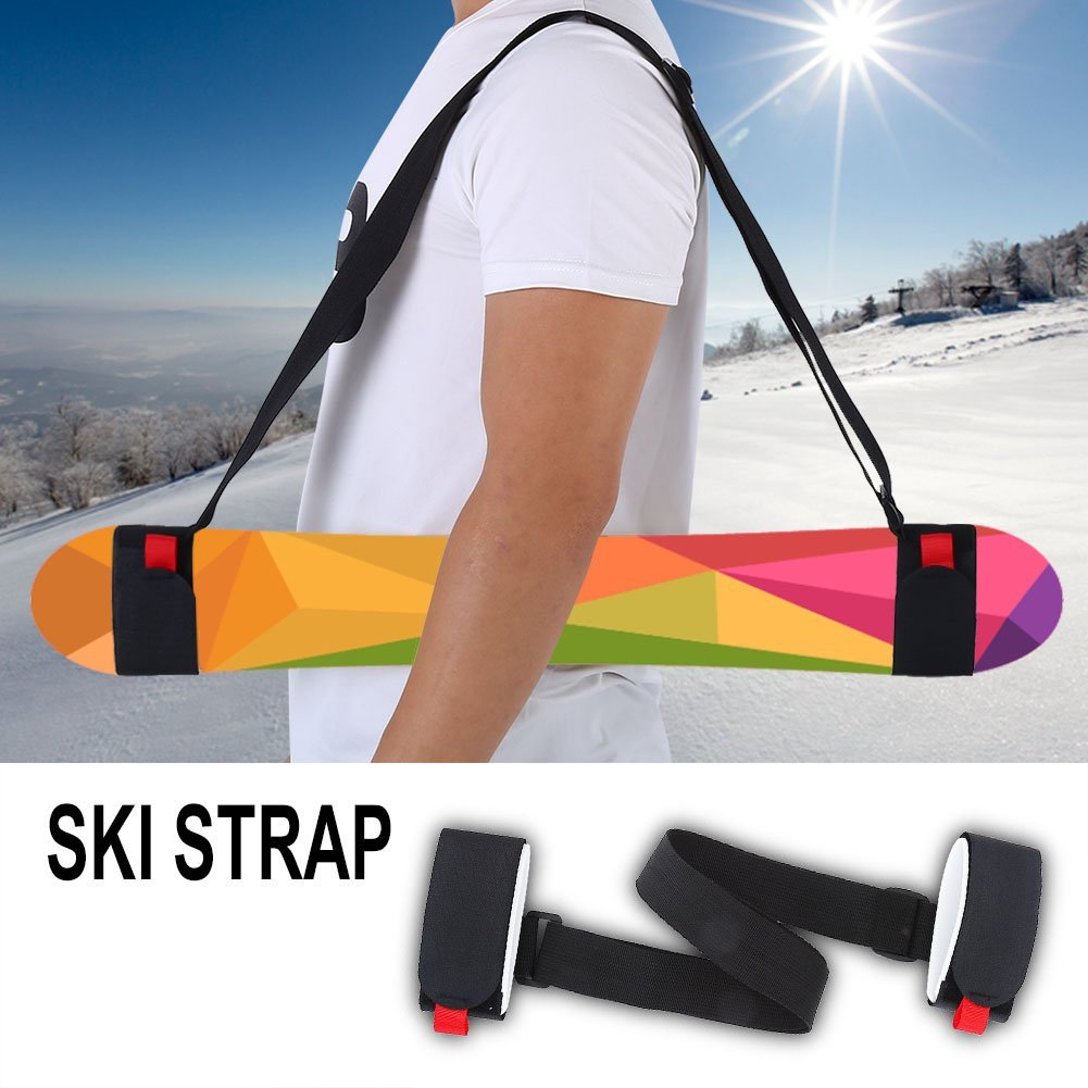 Outdoor Comfortable Ski Snowboard Shoulder Carrier Nylon Strap Holder Snowboarding Accessory by