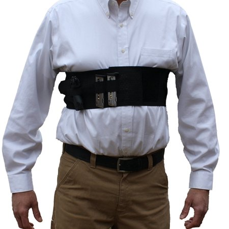 Alpha Holster Concealed Carry Chest Band Gun Holster w/ Removable Suspender- Cool Elastic Material (White, X-Small) thumbnail
