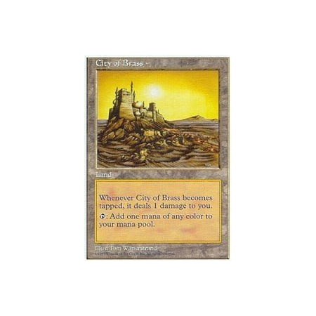 Magic Gathering Singles - - City of Brass - Fifth Edition, A single individual card from the Magic: the Gathering (MTG) trading and collectible card game (TCG/CCG). By Magic: the Gathering