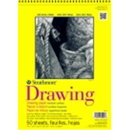 Strathmore 300 Serives Spiral Binding Multi-Purpose Drawing Pad - 9 x 12 in. - 50 Sheets