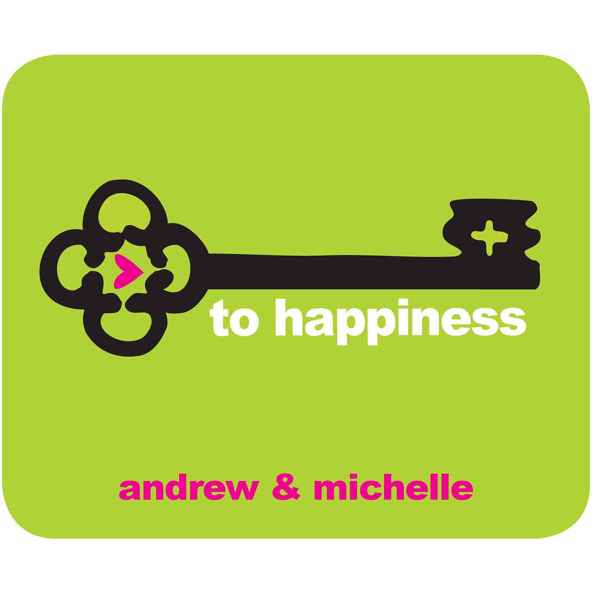 Key To Happiness Personalized Mouse Pad