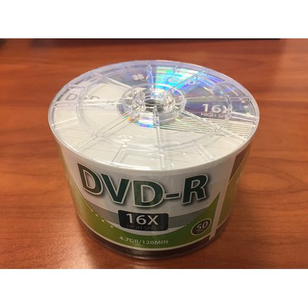 Myeco 50 Pack Dvd R Dvdr 16X 4 7Gb 120Min Logo Top Write Once Blank Media Record Disc