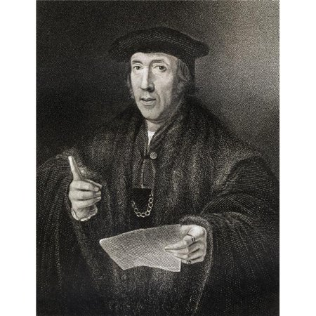Sir John More C.1541-1530 Father of Sir Thomas More From The Book Lodge S British Portraits Published London 1823 Poster Print, Large - 26 x 34 - image 1 of 1