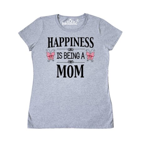 Happiness is being a Mom with Butterflies Women's T-Shirt](Soccer Mom Costume)