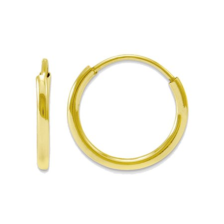 14k Yellow Gold Endless Round Hoop Earrings 8mm