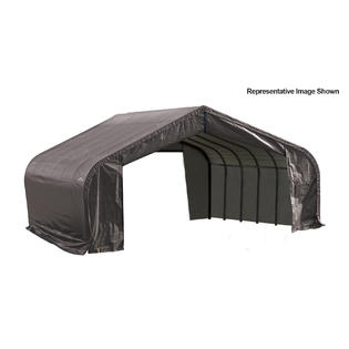 Click here to buy Peak Style Shelter 22x20x13 Steel Frame in Gray Cover.