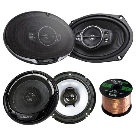2 Pair Car Speaker Package Of 2x Kenwood KFC-6995PS 1300-Watt 6x9