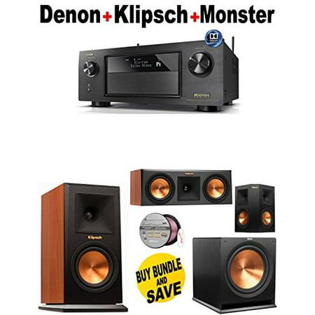 Denon-AVRX4200W + Klipsch-RP160MCH + Klipsch-RP250CCH + Klipsch-RP250SBK + Klipsch-R110SW + Monster... by
