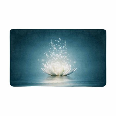MKHERT Spiritual Meditation Yoga Magic Lotus Flower Doormat Rug Home Decor Floor Mat Bath Mat 30x18 inch](Magic Decor)