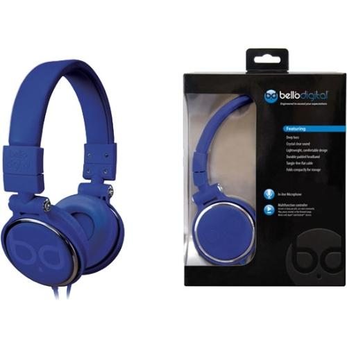Bell'o Over-the-head Headphones - Stereo - Blue - Mini-phone - Wired - Gold Plated - Over-the-head - Binaural - Circumaural (bdh806bl)