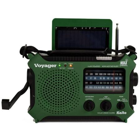 Katio Ka500l Am Fm Shortwave Dynamo Solar Crank Emergency Weather Radio   Green