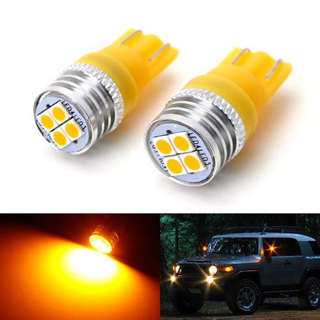 - iJDMTOY (2) Amber Yellow 4-SMD High Power LED Side Mirror Replacement Bulbs For 2007-2014 Toyota FJ Cruiser