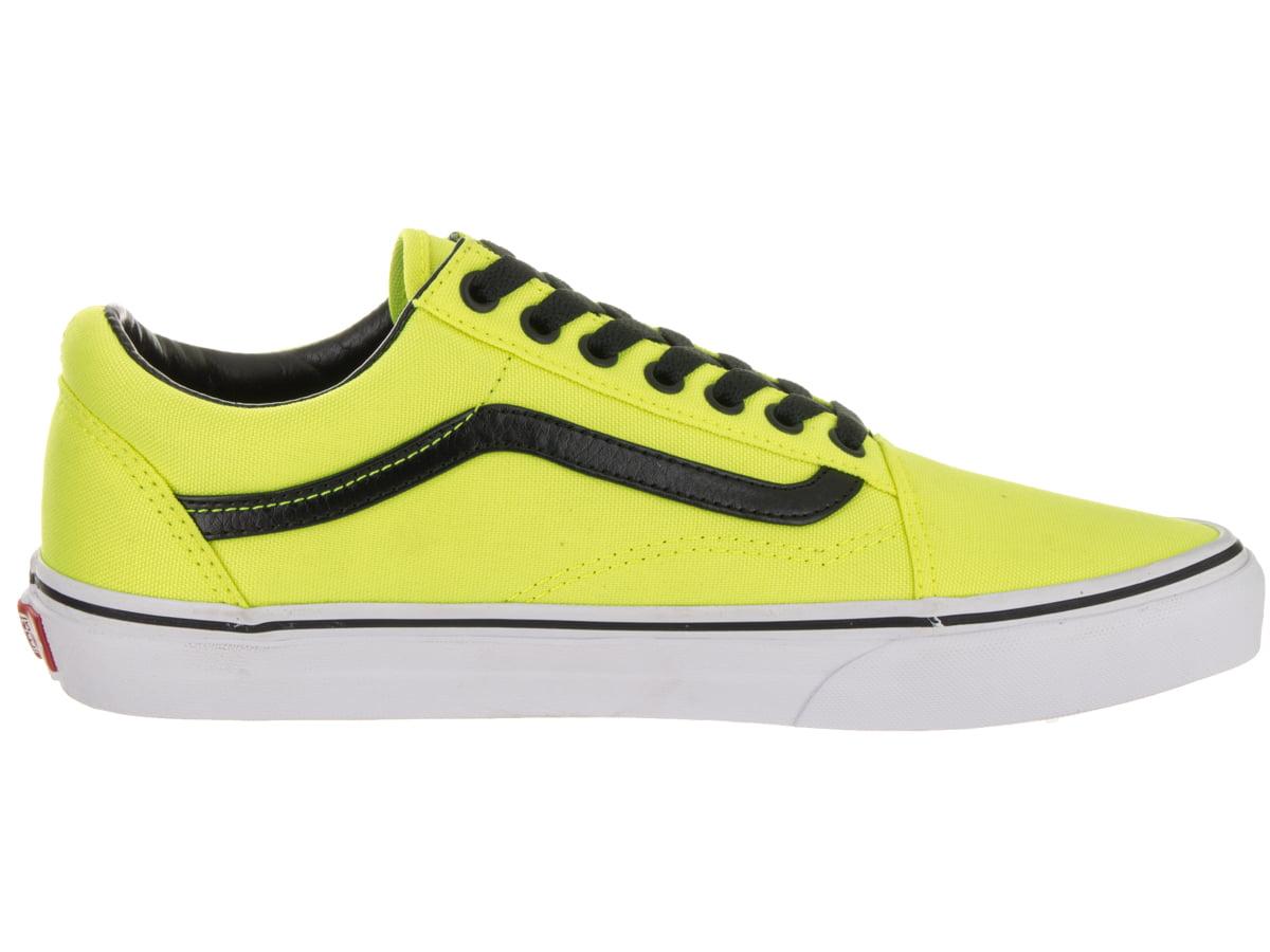 Vans Old Skool Brite Neon Yellow / Black Ankle-High Canvas Skateboarding Shoe - 9M 7.5M
