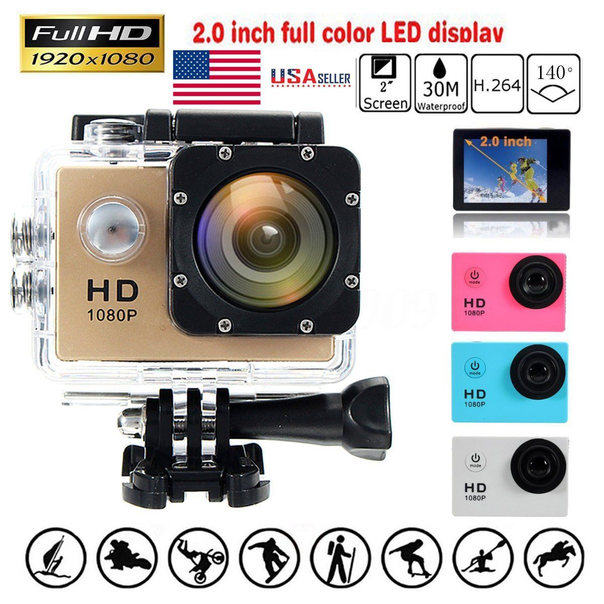 SJ4000 Version Full HD 1080P 12MP Diving Bicycle Action Camera 30m Waterproof Car DVR Sports DV