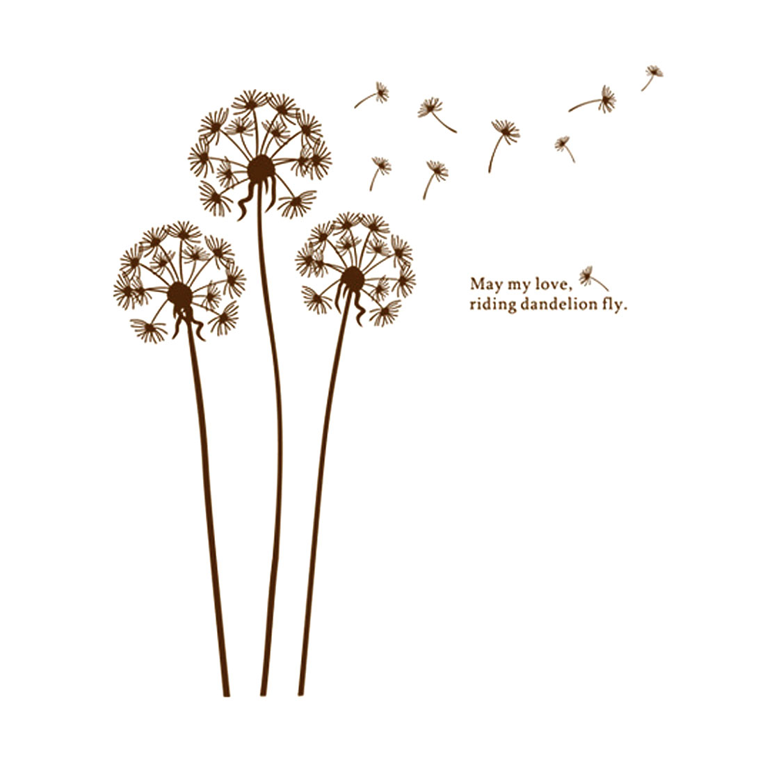 DIY Flying Dandelion Removable Wall Decor Sticker Room Decal
