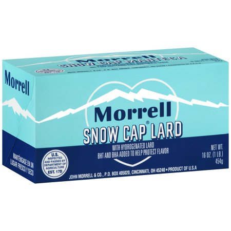 morrell snow cap lard 16 oz box