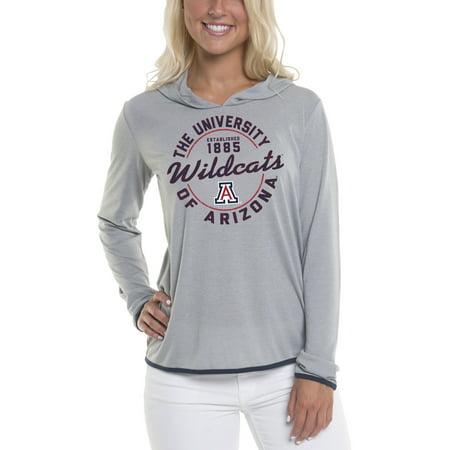 Arizona Wildcats Hoodie (Women's Gray Arizona Wildcats Mason Block Pullover)