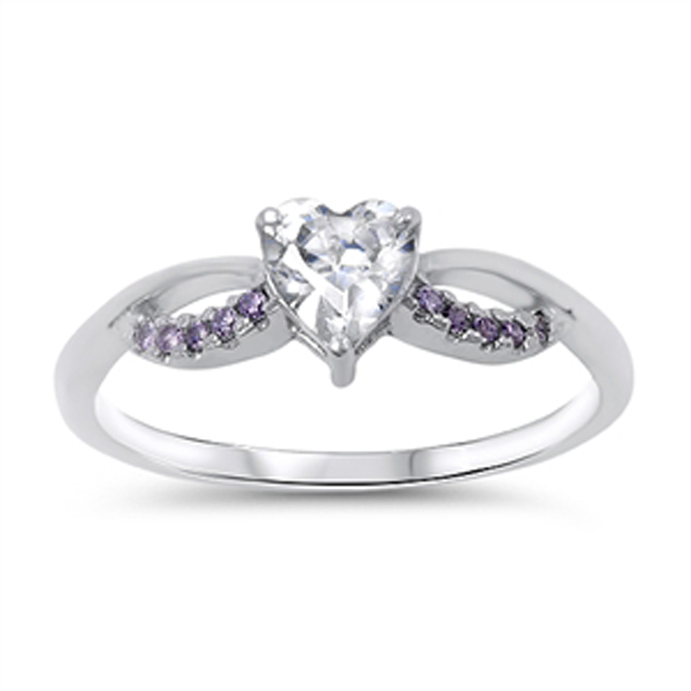 s simulated amethyst promise ring sizes 4 5