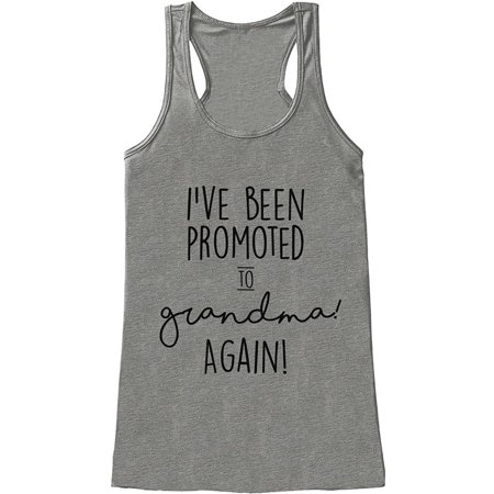 Custom Party Shop Women's Promoted to Grandma Pregnancy Announcement Tank Top - Large