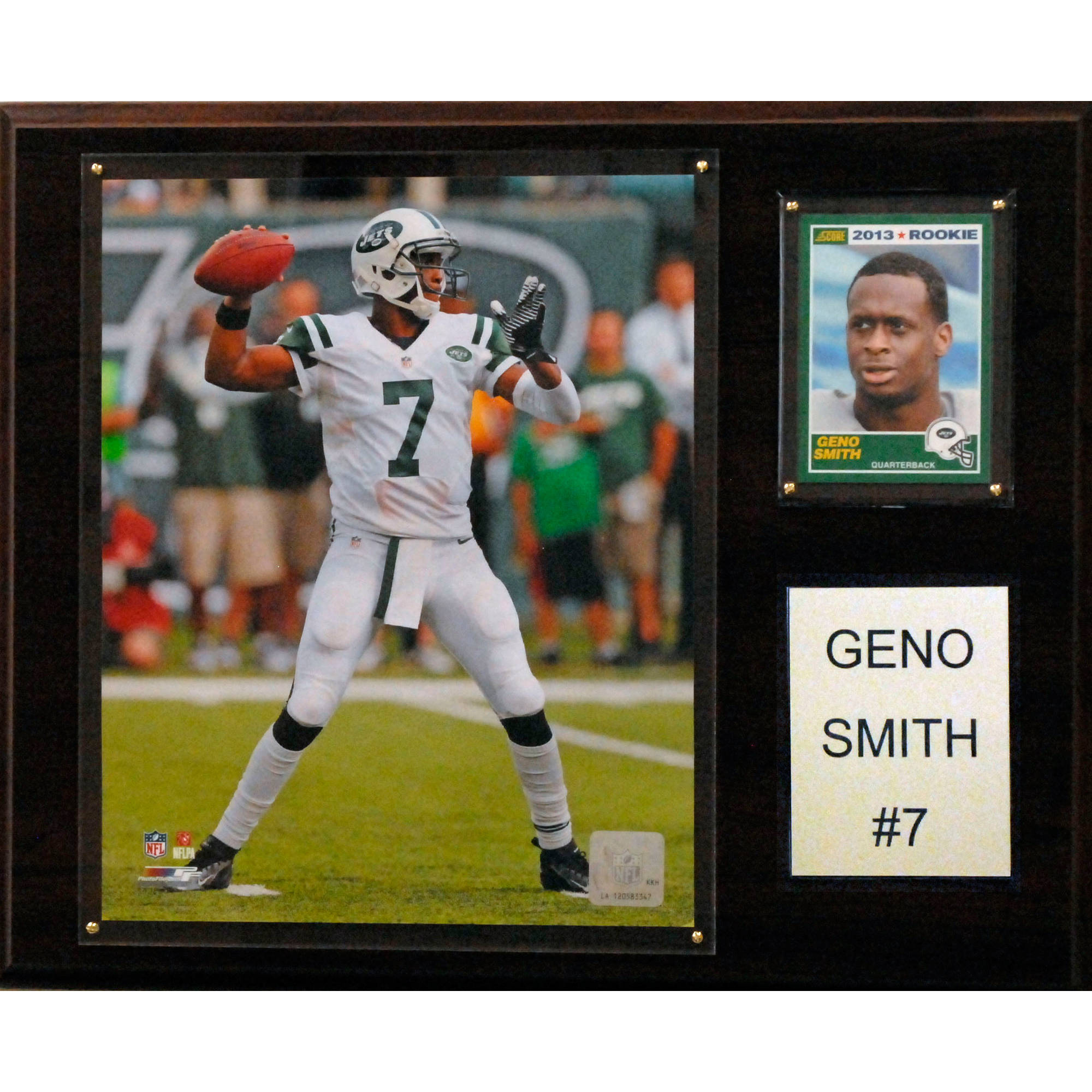C&I Collectables NFL 12x15 Geno Smith New York Jets Player Plaque