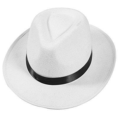 white felt fedora gangster hat mobster costume hats by funny party hats