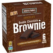 Nature's Bakery Chocolate Double Chocolate Brownie, 2 oz, (Pack of 12)