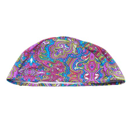 Ethnic Style Polyester Elastic Swimming Sports Swim Cap for - Capes For Adults