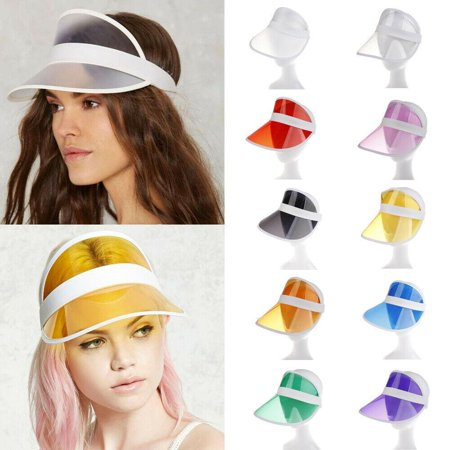Black Visor Plastic Visor Vacation Visor Beach Party Visor Colored Plastic Visor Clear Sun Poker Visor Vegas Dealer Golf Casino Visor Hat ()