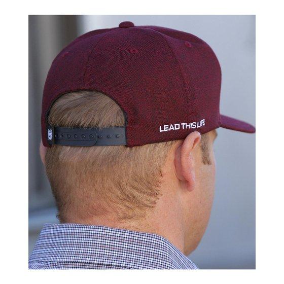 2e5fff5f042 Cinch - Cinch Men s Burgundy Flat Bill High Profile Baseball Cap ...