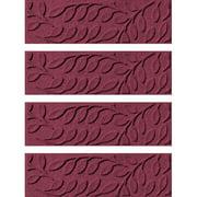 Bungalow Flooring Aqua Shield Bordeaux Brittany Leaf Stair Tread (Set of 4)