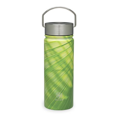 Gaiam Stainless Steel Wide Mouth Water Bottle 18oz Bamboo