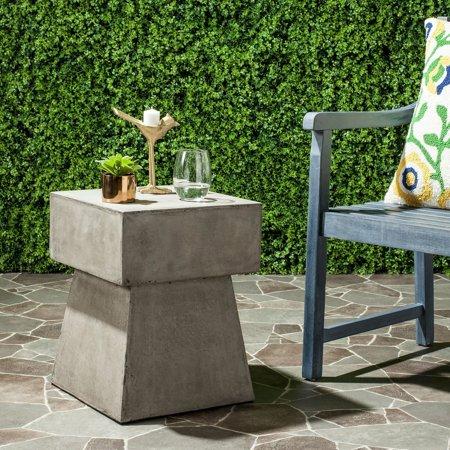 Zen Mushroom Concrete Indoor/ Outdoor Accent Table (Dark Grey) - 13.7