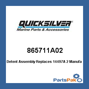 Mercury - Mercruiser 865711A02 Mercury Quicksilver 865711A02 Detent Assembly Replaces 14497A 2- (Safety Detent)