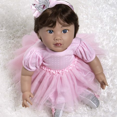 Paradise Galleries Reborn Princess Mexican Baby Doll Royal Dreams, 20 inch Hispanic Girl in GentleTouch Vinyl, 7-Piece Doll Ensemble