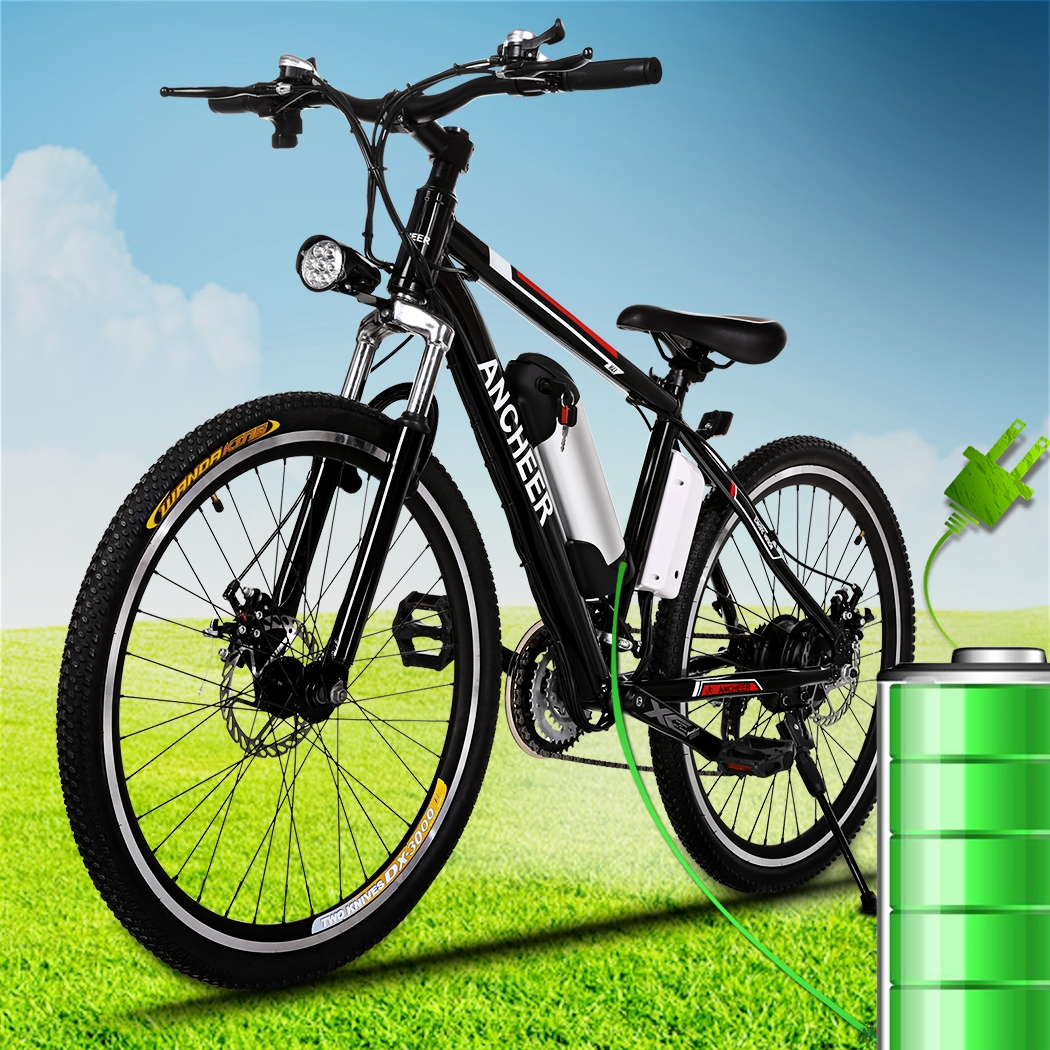 "Ancheer 25"" High power 25-35km/h 21 Speed System Electric Bicycle Mountain Bike With 3-speed smart Button Brushless Gear Motors Bike"