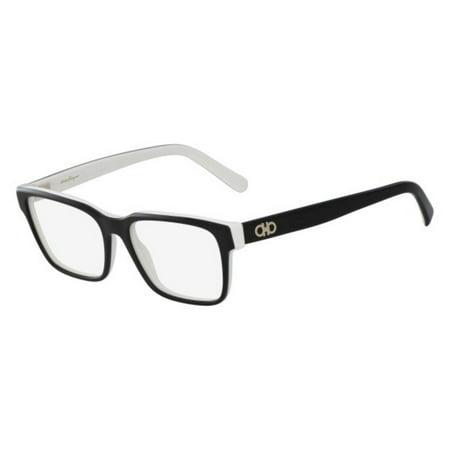 Salvatore Ferragamo Eyeglasses SF2790 961 Black White Rectangle (Best Salvatore Ferragamo Mens Eyeglasses)